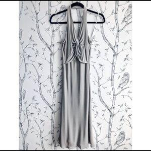 Armani Collezioni Grey Halter Dress - Size 4
